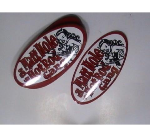 Custom Oval Stickers